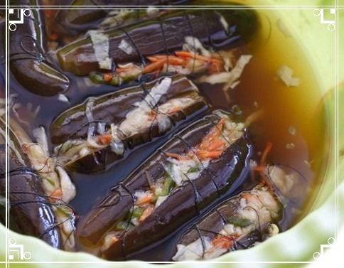 Маринованные баклажаны с морковью и чесноком фаршированные